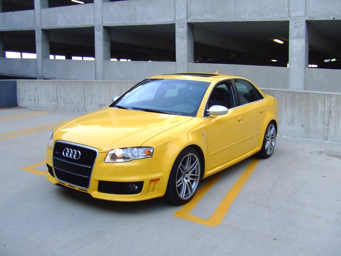 Yellow Audi RS4 & S5 | safirutza.com